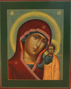 Икона Божией Матери Казанская. Венчальная пара.