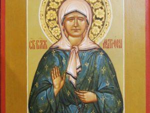 Икона Святая блаженная Матрона