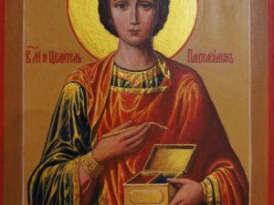 Икона Святой Целитель Пантелимон