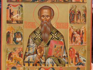 Святитель Стефан Пермский с житийными клеймами