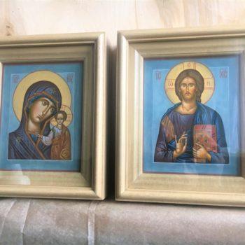 Венчальная пара Спас Вседержитель и Божия Матерь «Казанская»