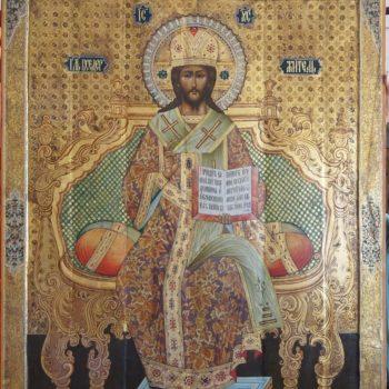 Отреставрирован старинный образ 19 века «Спас Великий Архиерей».