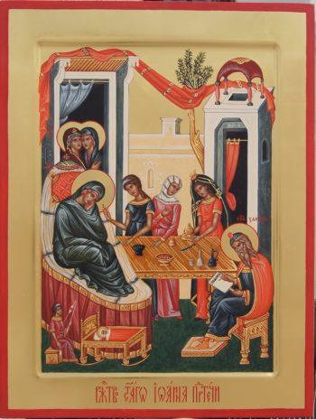Икона к Празднику Рождества честного славного Пророка, Предтечи и Крестителя Господня Иоанна